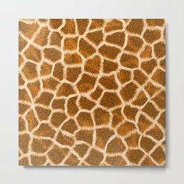 Apricot Giraffe Skin Metal Print