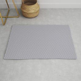 Pantone Lilac Gray Scallop, Wave Pattern Rug