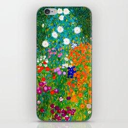 Gustav Klimt - Flower Garden iPhone Skin