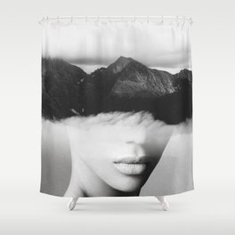 silence of the mountain Shower Curtain