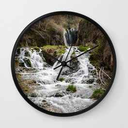 Roughlock Falls, Spearfish Canyon, South Dakota Wall Clock