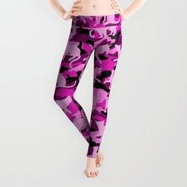 Hot Pink Catmouflage Leggings