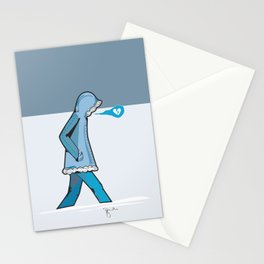 January Blues Stationery Cards