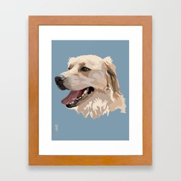 Golden Retriever Dog Framed Art Print