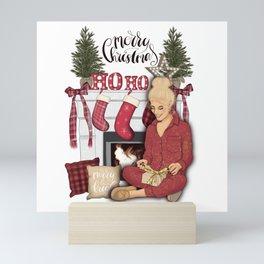 Merry Christmas Scene Mini Art Print