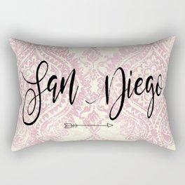 Pink San Diego Design Rectangular Pillow