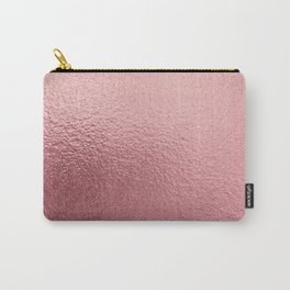 Pure Rose Gold Pink Carry-All Pouch