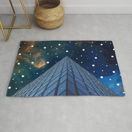 Snow in the city Rug