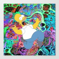 homer Canvas Prints featuring HOMER by Fernando P.