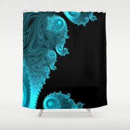 Black Ice - Fractal Art Shower Curtain