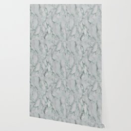 Ariana verde - smoky teal marble Wallpaper