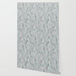 Ariana verde - smoky teal marble Wallpaper