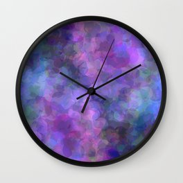 Blueberry Bubbles Wall Clock