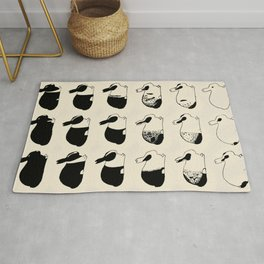 Studies of heredity in rabbits- William E.Castle - 1919 Cute Bunny Pattern Rug