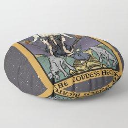 The Godddess Hecate In Tarot Card Floor Pillow