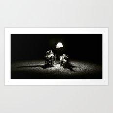The Reading Light Art Print