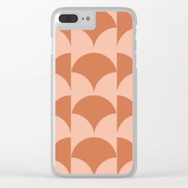 Cleo Pattern - Sunset Clear iPhone Case