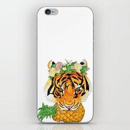 Tiger Biting Pineapple iPhone Skin