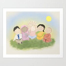 Peaceful Friends Art Print
