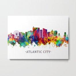 Atlantic City New Jersey Skyline Metal Print