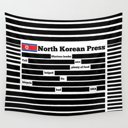 North Korea News Paper Wall Tapestry