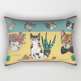 Cats Reunion Rectangular Pillow