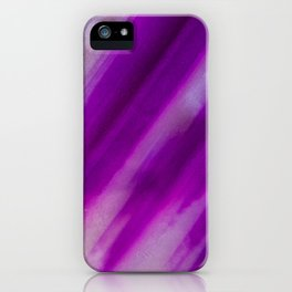 Purple Neon Geode Raw Crystal Stone Agate Amethyst Fine Art Print iPhone Case