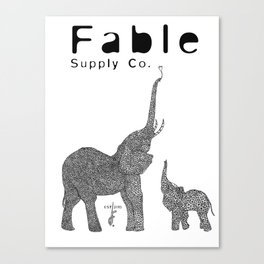 Fractal Elephant Canvas Print