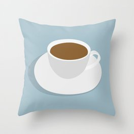 one more cup Throw Pillow