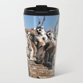 Sunbathing Ring-Tailed Lemurs Travel Mug