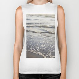 Pacific Waves at Sunset Biker Tank