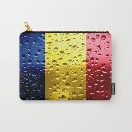 Flag of Romania - Raindrops Carry-All Pouch