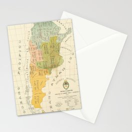 Vintage Map of Argentina (1918) Stationery Cards