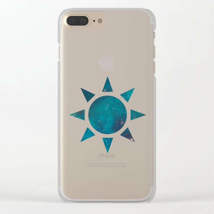 Space 03 Clear iPhone Case