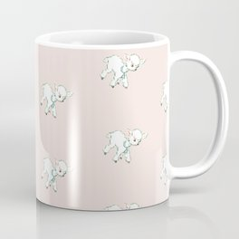 Vintage Baby Lambs Repeat in Buff Coffee Mug