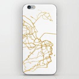 RIO DE JANEIRO BRAZIL CITY STREET MAP ART iPhone Skin