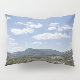 Mountains and Olive Trees Pillow Sham