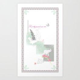 Her Pretty Parasol... Art Print