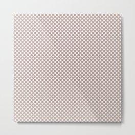 Adobe Rose and White Polka Dots Metal Print