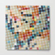dots meet pixels Metal Print