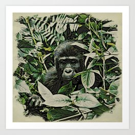 Animal ArtStudio 22516 Gorilla Baby Art Print