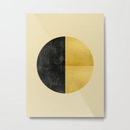 Black and Gold Circle 03 Metal Print
