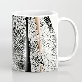 Motivation [2] : a colorful, vibrant abstract piece in pink red, gold, black and white Coffee Mug