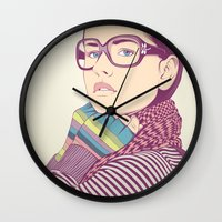 clear Wall Clocks featuring Just know who I am.... by CranioDsgn