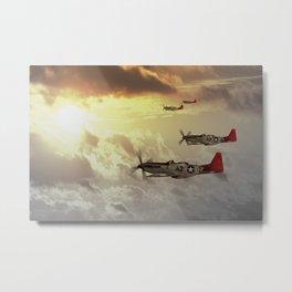 P-51D Mustang - Red Tails Metal Print