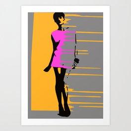 Graffiti Style Fashion Art - By Dominic Joyce Art Print