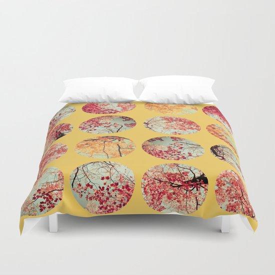 Sunflower Inkblot Duvet Cover