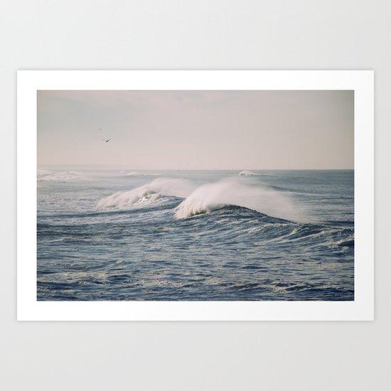 stormy waters Art Print