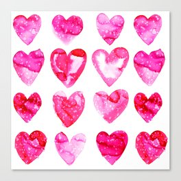 Heart Speckle Canvas Print