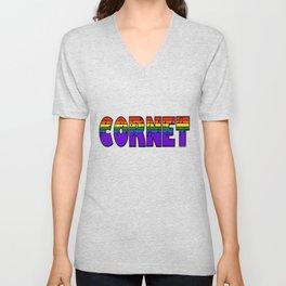 Rainbow Cornet Unisex V-Neck